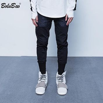 New Ripped Frayed Pants For Men Skinny Destroyed Famous Hip Hop Black Men Joggers Pants Casual High Street Pant
