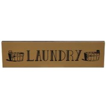 Laundry with Basins - sign