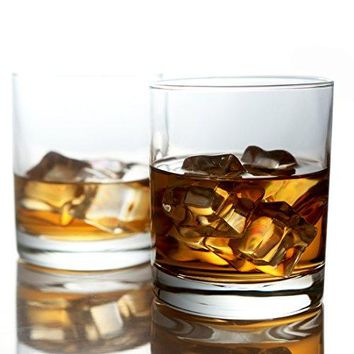 Whiskey Glasses Premium 11  Ounce Scotch Glasses Old Fashioned Whiskey Glasses  Style Glassware for BourbonRum Glasses Bar Whiskey GlassesClear Set of 6