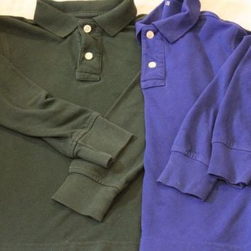 Gap Kids Long Sleeve Polo Shirt Set (Sold Together)