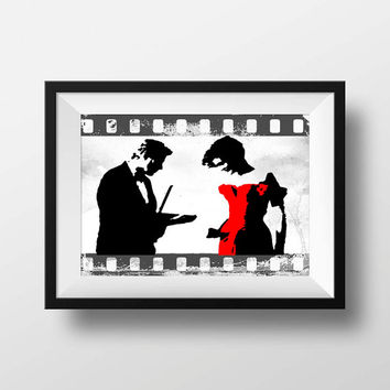 Julia Roberts Pretty women movie print ,Minimalist Movie Print, Home Decor, Wall Art,