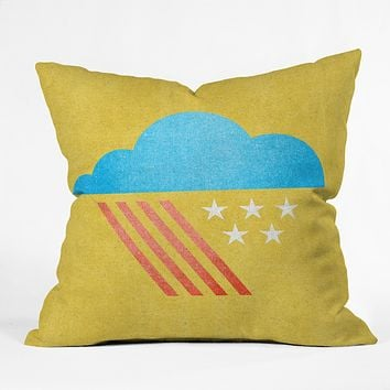 Nick Nelson Patriotic Weather Throw Pillow