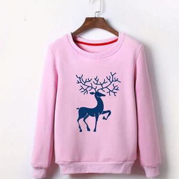 Winter cartoon reindeer sweater