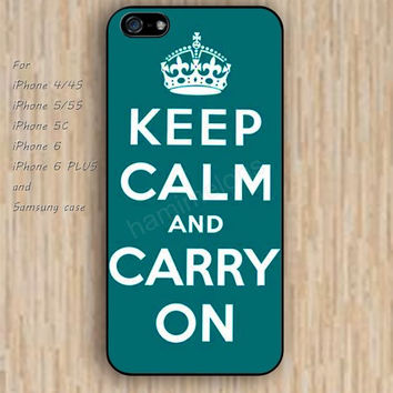 iPhone 6 case keep calm carry on case iphone case,ipod case,samsung galaxy case available plastic rubber case waterproof B127