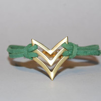 Chevron  Arrow  Native  Military  Bracelet  Spring by TwoOneButton