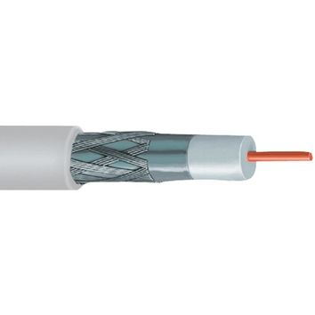 Vextra(R) V621BW RG6 Solid Copper Coaxial Cable, 1,000ft (White)