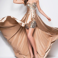 Sweetheart Sequined Beads Satin Floor-Length Formal Gown Evening Dresses