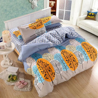 bedding set Autumn style duvet cover twin Full Queen Nordic style bedding bed linen flat sheet +duvet cover bedclothes clear out