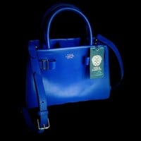 Vince Camuto Group Small Vc-eli-ssa Lapis Blue Satchel 56% off retail