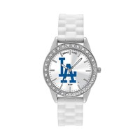 Game Time Watch - Women's Frost Series Los Angeles Dodgers Silicone (White)
