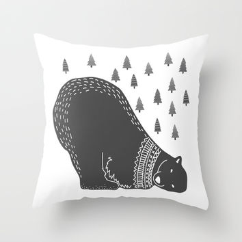In the Winter Throw Pillow by MY  HOME