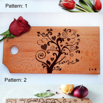 Cutting board family tree, Personalized board love tree, wedding board, custom cutting board, wood cutting board, Housewarming, handmade,