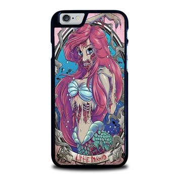 the zombie mermaid princess disney iphone 6 6s case cover  number 1