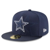Dallas Cowboys New Era 59FIFTY NFL Sideline Men's Fitted Cap Hat - Size: 7 1/2