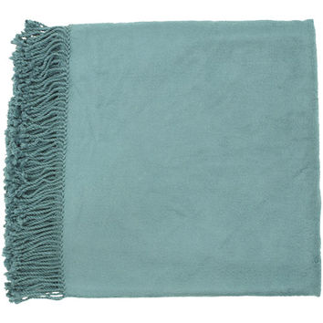 Surya Rugs TIA1006-5067 Tian Tian Teal 50 x 67 Throw