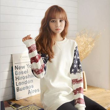 Women new winter sweater ladies sweater women's round neck hedging loose long-sleeved sweater