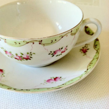 Vintage Noritake Tea Cup and Saucer/Tea Party - Ca. 1960's