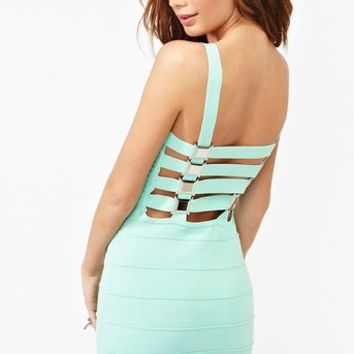 Buckle Up Bandage Dress in  Clothes at Nasty Gal