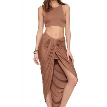 Caribe Waterfall Maxi Skirt