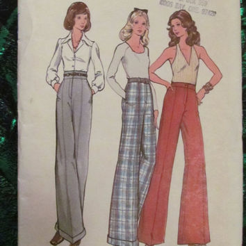 SALE Uncut 1970's Butterick Sewing Pattern, 3014! Size Small/Medium, Pants/Slacks/Bell Bottoms/Flare Bottoms/Jeans
