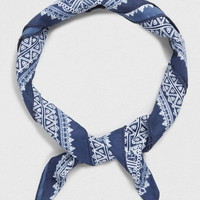 Navy Ditsy Silky Bandana - Men's Bandanas - Shoes and Accessories