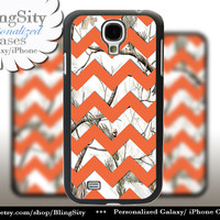 White Camo Chevron Galaxy S4 S5 case Orange Snow Winter Real Tree Camo Personalized Samsung Galaxy S3 Case Note 2 3 Cover