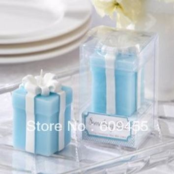 """SHIPPING(100pcs/)+ Tiffany Themed Wedding Party Decoration Favors """"Something """" Candle Bridal Shower Favors"""