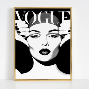 VOGUE COVER Fashion Poster Fashion Decor Women Gift Vogue Poster Vogue Print Vogue Magazine Vogue Art Paris Fashion Fashionista Vogue