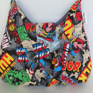 Marvel Comic Purse - Comic Bag - Thor - Captain America - Hulk - Iron Man