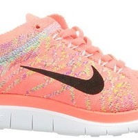 Nike Women's Free Flyknit 4.0 Brght Crmsn/White/Rspbrry Rd/L Running Shoe 8 Women US
