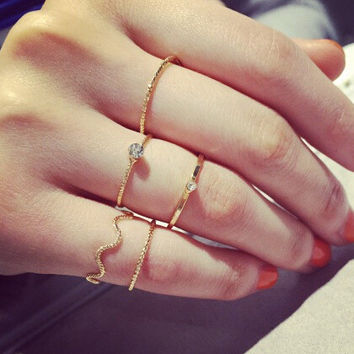 Jewelry Gift New Arrival Shiny Korean Stylish Accessory Strong Character Ring [6586077127]