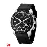 """Bvlgari"" Classic Women Men Stylish Movement Quartz Watches Boys Girls Wristwatch"