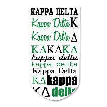 Kappa Delta - Sorority Full Print Word Art No-Show Socks - 1 pair