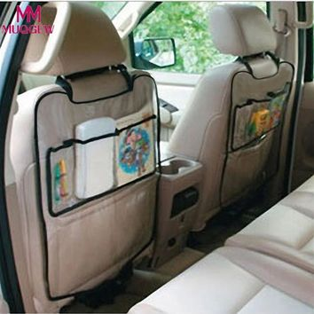 2018 New Universal 1PC Car Auto Seat Back Protector Cover Car Interior Children Kick Mat Storage Bag Accessories Car Styling