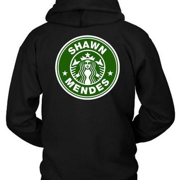 MDIG1GW Shawn Mendez Starbucks Logo Funny Classic Hoodie Two Sided