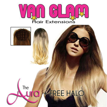 The Aura Fall Crown Clip In Hair Extensions + FREE Halo Hair Extension