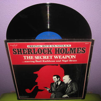 Vinyl Record Album Sherlock Holmes - The Secret Weapon Soundtrack LP 1942/1980 Basil Rathbone Classics