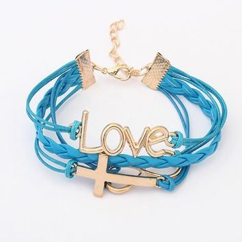 Great Deal Hot Sale Gift Awesome Shiny New Arrival Korean Accessory Romantic Cross Rack Stylish Bracelet [6573079111]