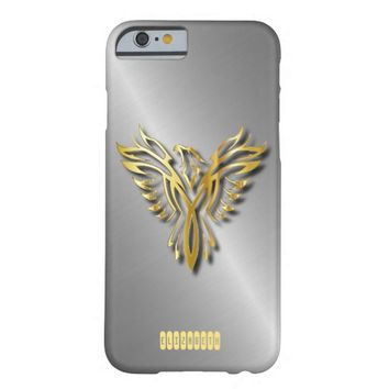 Rising Golden Phoenix Gold Flames With Shadows Barely There iPhone 6 Case