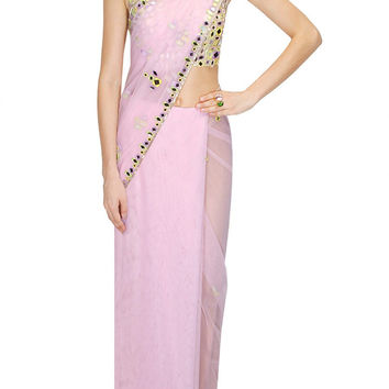 Light purple designer saree