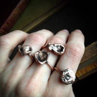 Raw Copper Droplet Ring - Pick Your Size