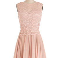 ModCloth Pastel Short Sleeveless A-line PliC) for Keeps Dress