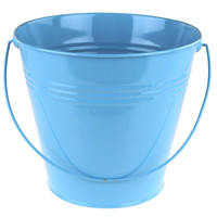 Metal Pail Buckets Party Favor, 7-inch, Blue