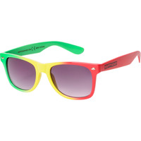 Happy Hour Tri Dye Rasta Sunglasses at Zumiez : PDP