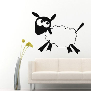 Wall Decals Animals Cute Cartoon Sheep Home Vinyl Decal Sticker Kids Nursery Baby Room Decor m172