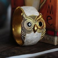Owl Enamel Bangle