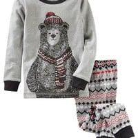 2-Piece Bear Snug Fit Cotton PJs