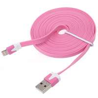 10 FEET USB LONG DATA/SYNC CHARGER CABLE CORD 3M COLOR FOR iPHONE 5 5G TOUCH 5