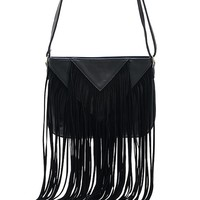 Streetstyle  Casual Long Fringe Boho Crossbody Bag