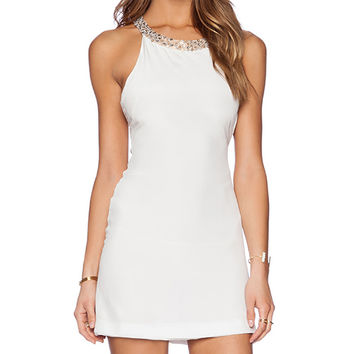 MLV Blair Embellished Dress in White